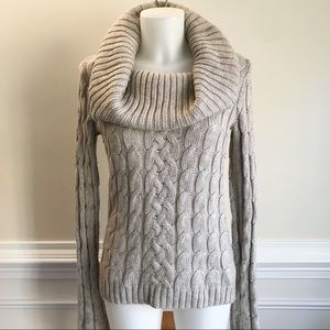 The Limited cable knit cowlneck sweater